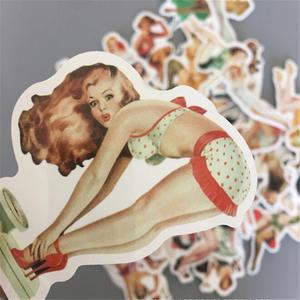 Retro Pin Up Girls Sticker