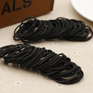 Haargummi schwarz 20 Stück