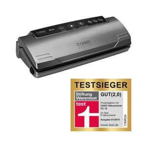 Caso VC10 Testsieger-Set - Vakuumierer + gratis Zubehör - edelstahl