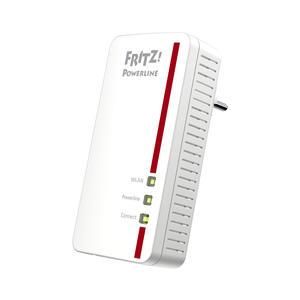 FRITZ!Powerline 1260E WLAN - Netzwerkerweiterung über Stromnetz - weiß-rot