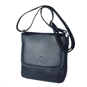 Kleine Leder-Überschlagtasche