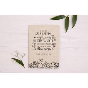 Glückwunschkarte aus Graspapier