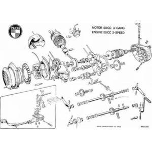 Poster Puch 3-gang Motor gebläsegekühlt