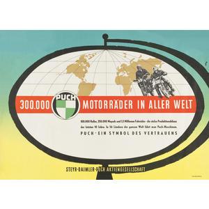 "Poster ""300.000 puch Motorräder"""