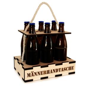 Bierhandtasche mit Gravur | Männerhandtasche | Bier Geschenkidee | Biergeschenk