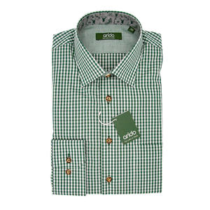 Trachtenhemd in Grün kariert
