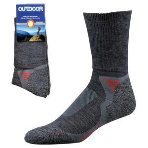 1 Paar Trekking Socken mit Merino Wolle (39-42 anthrazit)
