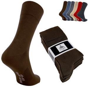 10 Paar atmungsaktive PREMIUM Business-Socken Herrensocken kein Schwitzen dank bester Qualität (10 Paar, 39-42, Braun)