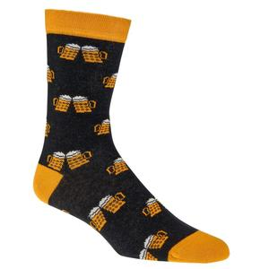 Lustige Socken - Lustige Socken - Unisex Fun Socken mit Emojis oder Spruch - Bierkrüge (1x 36-41)