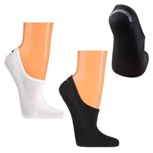 6 Paar Füsslinge aus Baumwolle invisible Sneaker-Socken mit Silikonpad (weiß 39-42)