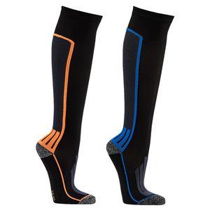 1 Paar Kompressions-Socken Sport-Strümpfe mit Coolmax Technologie (39-42 blau)
