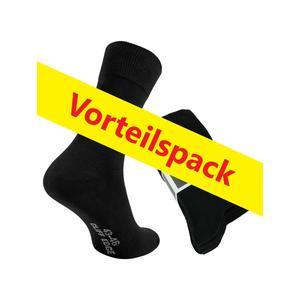 20 Paar atmungsaktive PREMIUM Business-Socken Herrensocken in schwarz kein Schwitzen dank bester Qualität (20 Paar, 43-46, schwarz)