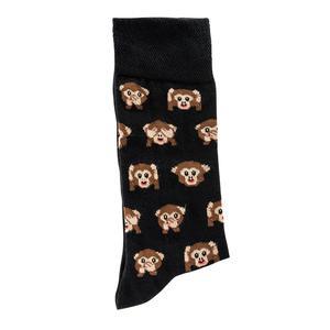 Lustige Socken - Lustige Socken - Unisex Fun Socken mit Emojis oder Spruch - Affe (1x 36-41)