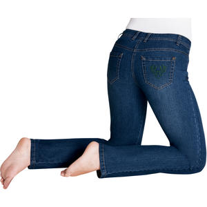 Trachten-Jeans mit dekorativer Stickerei