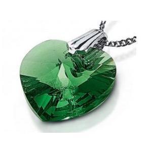 Trachtenkette mit Herzanhänger von Swarovski Kristall
