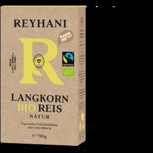 Reyhani BIO Fairtrade Langkorn Braun 750g