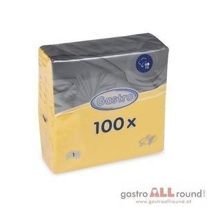 1.200 Stk. Servietten 1-lagig, 33 x 33 cm gelb