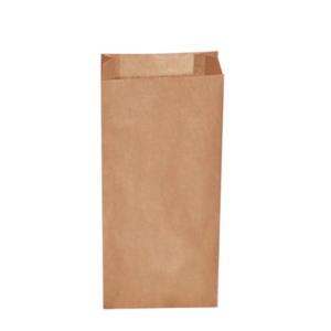 500 Stk. Papier Faltenbeutel braun 2,5 kg (15+7 x 35cm)