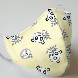 Mund- und Nasenmaske mit Gummiband Kinder 8 bis 12 Jahre - Panda