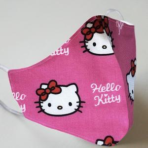 Mund- und Nasenmaske mit Gummiband Kinder 4 bis 7 Jahre - Hello Kitty