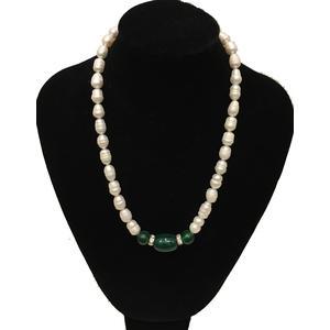 Perlenkette mit grün Achat