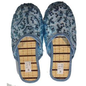 Damen pantoffel mit nature Bambus sohle,hautfreudig,bequem hausschuhe - Variante - Variante - Variante - Variante
