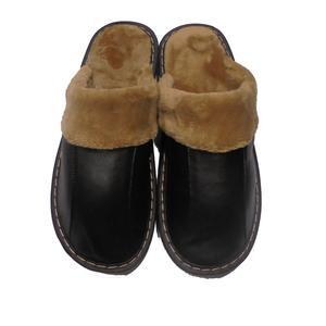 Leder Hausschuhe Leder hausschuhe mit gefüllt,oberteil mit hohe qualität lammleder - Variante - Variante