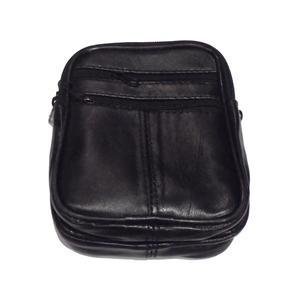 Gürteltasche Bauchtasche Leder Hüfttasche für Smartphone + Schlüssel Handytasche Ledertasche für Damen & Herren 15x11x4cm