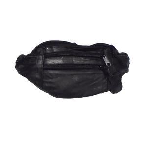Gürteltasche Bauchtasche Umhängetasche Leder schwarz