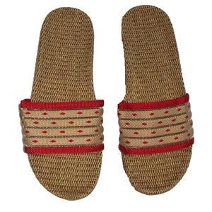 Abverkaufen! Damen pantoffel mit nature Leine sohle,hautfreudig,bequem hausschuhe - Variante