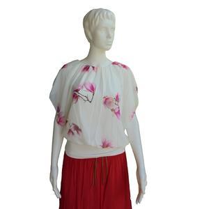 Damen Bluse Oberteil Shirt Blumenmuster