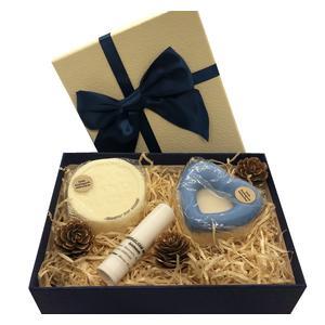 Männergeschenkebox - verschiedene handgemachte Naturkosmetikartikel aus natürlichen Rohstoffen mit Männerduft