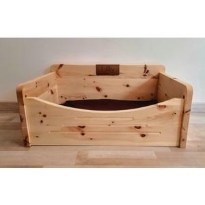 Katzen und Hundebett aus heimischen Zirbenholz. 60x40cm