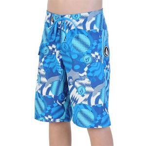 Volcom V2S Maguro Circles Boys Boardshorts - blue