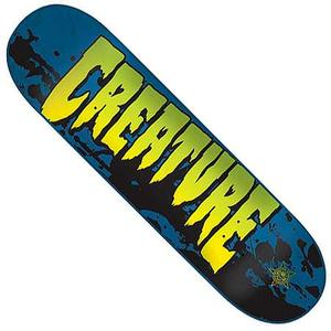 Creature Stained Skateboard Deck - blue