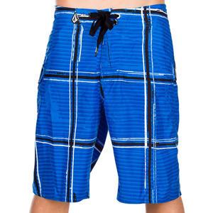 Volcom Maguro Plaid Youth Boardshorts - blue