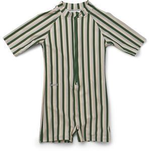 Liewood Max Schwimmanzug 2021 92/98 (2-3Y) Stripe Garden Green Sandy