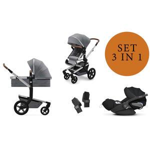Joolz Day+ Kinderwagen Set 3 in 1 inkl. Cybex Cloud Z Babyschale Gorgeous Grey Deep Black