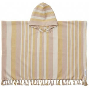 Liewood Roomie Kinderponcho 3-4 Jahre Stripe: peach/sandy/yellow mellow