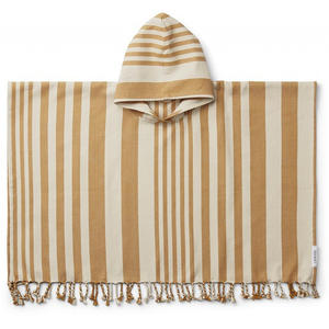Liewood Roomie Kinderponcho 3-4 Jahre Stripe: mustard/sandy