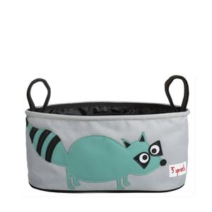 3 Sprouts Kinderwagentasche Waschbär