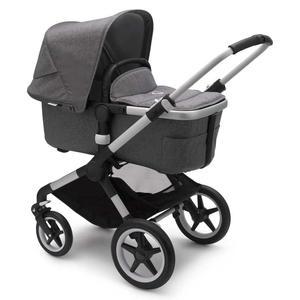 Bugaboo Fox2 Kinderwagen Set 3 in 1 incl. Babyschale Alu / Grau Meliert Deep Black