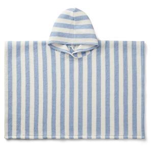 Liewood Paco Kinderponcho 3-4 Jahre Stripe: sky blue/creme
