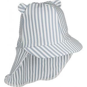 Liewood Senia Seersucker Sonnenhut Kollektion 2021 1-2 Y stripe: Sea blue/white