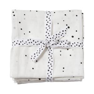 Done by Deer Spucktücher Dreamy Dots White 70 x 70 cm