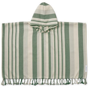 Liewood Roomie Kinderponcho 1-2 Jahre Stripe: garden green/sandy/dove blue