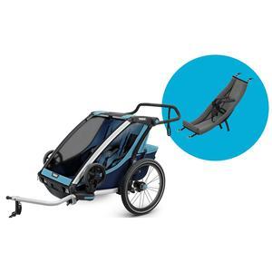 Thule Chariot Fahrradanhänger Set + Babysitz Cross 2 Blue