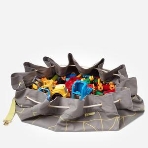 KAOS Samlesak Spielzeugsack / Spielmatte Grey/ Yellow