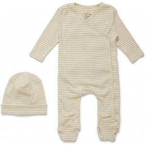Konges Sløjd Dio Neugeborenen-Set Deux 3 M Quarry Blue Stripe