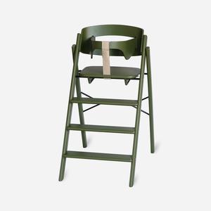 KAOS Klapp Hochstuhl aus Holz, klappbar inkl. Sicherheitsbügel Oak - Olive